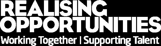 Realising Opportunities White Logo